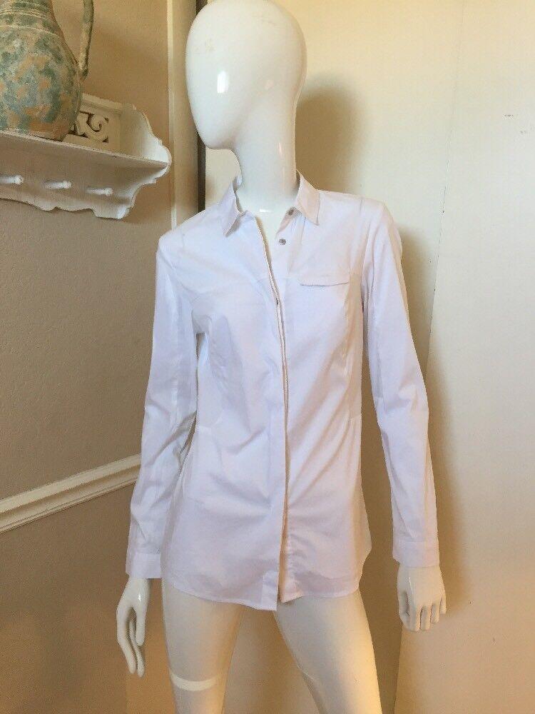 ElevenParis LA Collection NEW  White Fitted Button Front Shirt Sz 34 NWOT