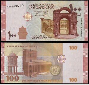 SYRIA-SIRIA-100-Libras-Pounds-2009-SC-UNC