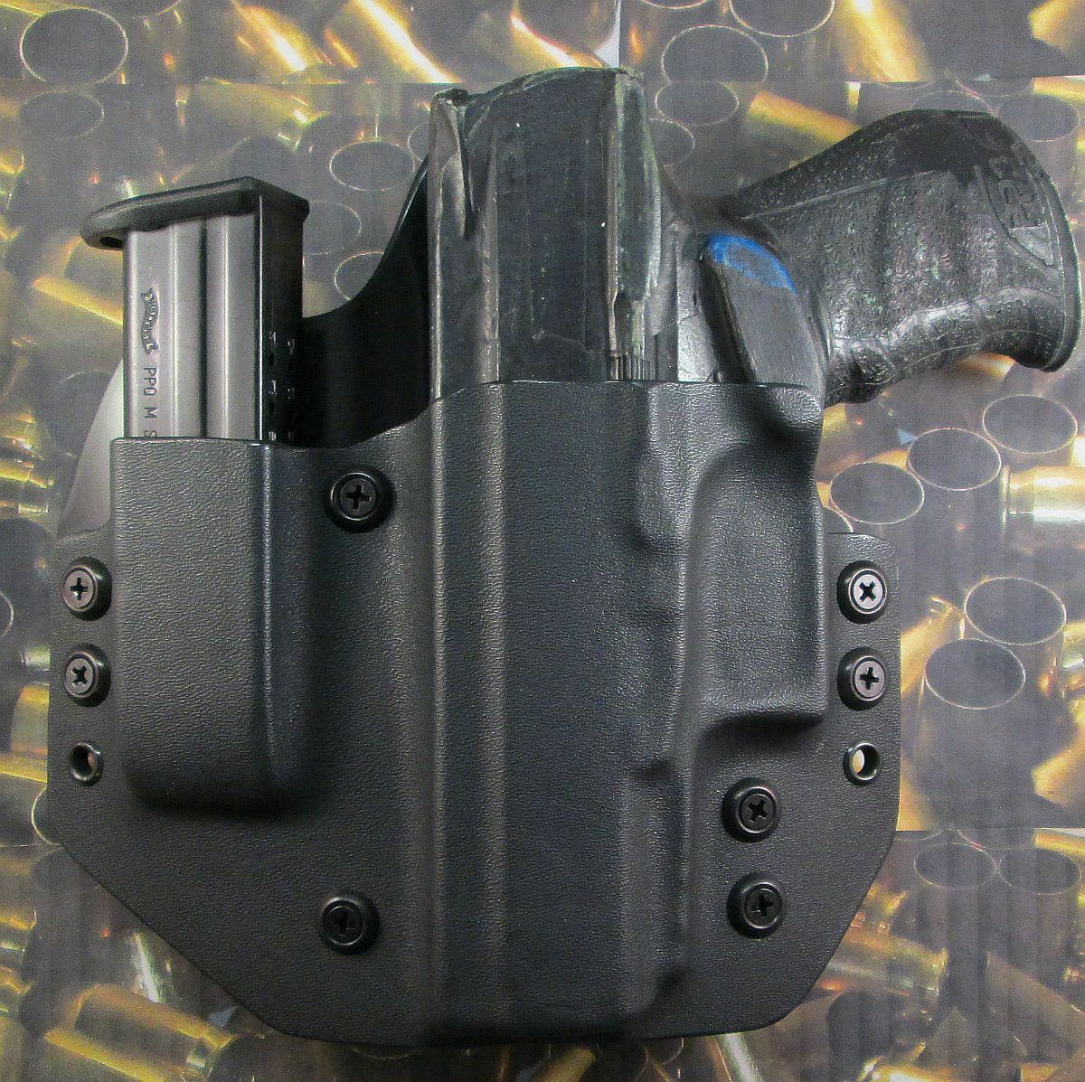 Hunt Ready Holsters  Walther PPQ M2 40 LH OWB Holster with Extra Mag Carrier