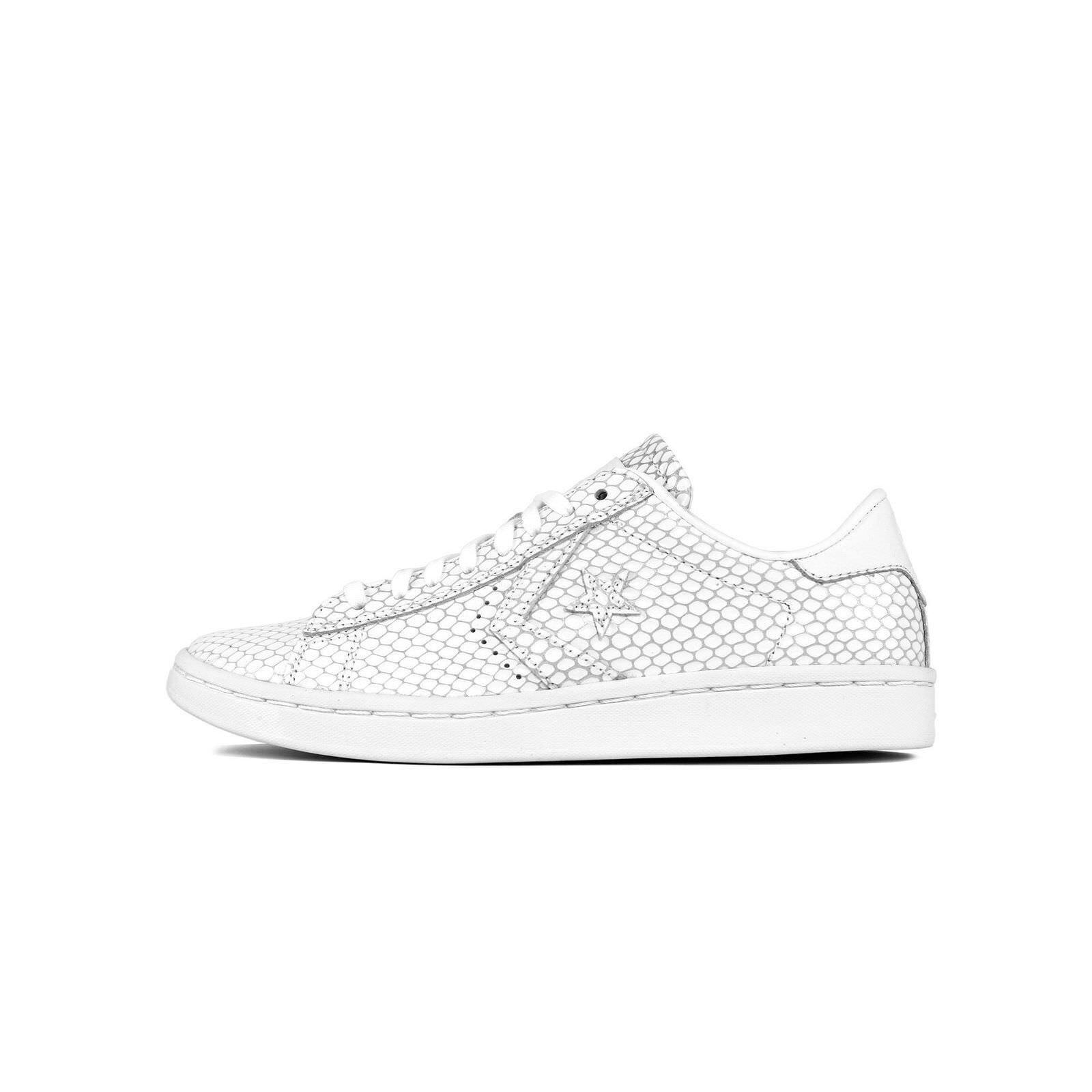 damen Converse Pro Leather LP Scale Leather Low Top Weiß 555928C Größe 8