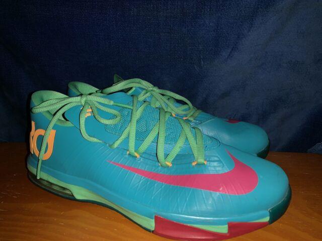 dea1cff9548 RARE🔥 Nike KD VI 6 Hero Pack Turbo Green Vivid Pink Nightshade SZ 7Y 59947
