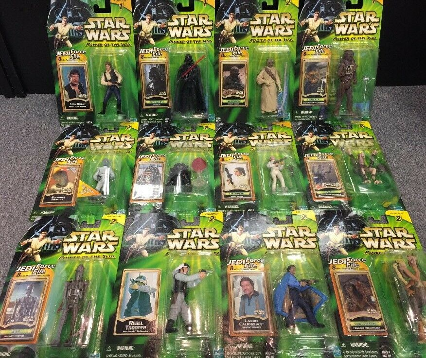Star Wars Power Of The Jedi Lot 12x Vader Leia Han Etc. All New
