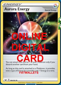 4 X Pokemon Sword /& Shield Aurora Special Energy Cards 186//202