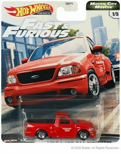 1992 ford f-150 SVT lightning-fast /& Furious motor muscle Hot Wheels 1:64 RR