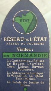 Rare-Brand-Pages-Antique-034-034-Etat-French-034-034-Network-Of-tourisme-ww2