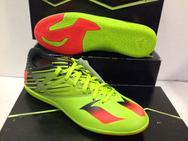 bcd6e492e NEU adidas Messi 15.3 Indoor Court Shoes Football BOOTS Green S74691 ...