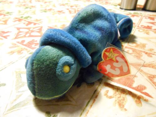 Original Rainbow Beanie Baby Retired 1997 RARE SWING TAG ERROR Color Red MINT