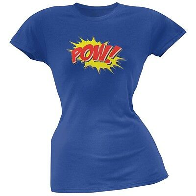 POW Comic Book Super Hero Royal Juniors Soft T-Shirt