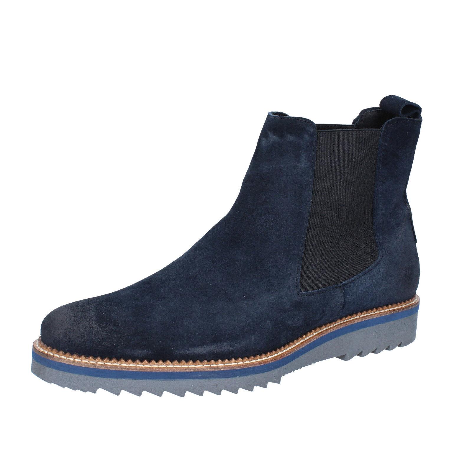 Men's schuhe SALVO BARONE 9 Stiefel (EU 42 ) ankle Stiefel 9 Blau suede BZ142-B 0d1c7d