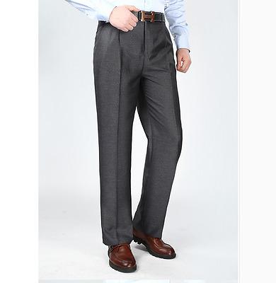 Men's Mulberry silk Pants Business Casual Straight Trousers Slacks Blazer Suit