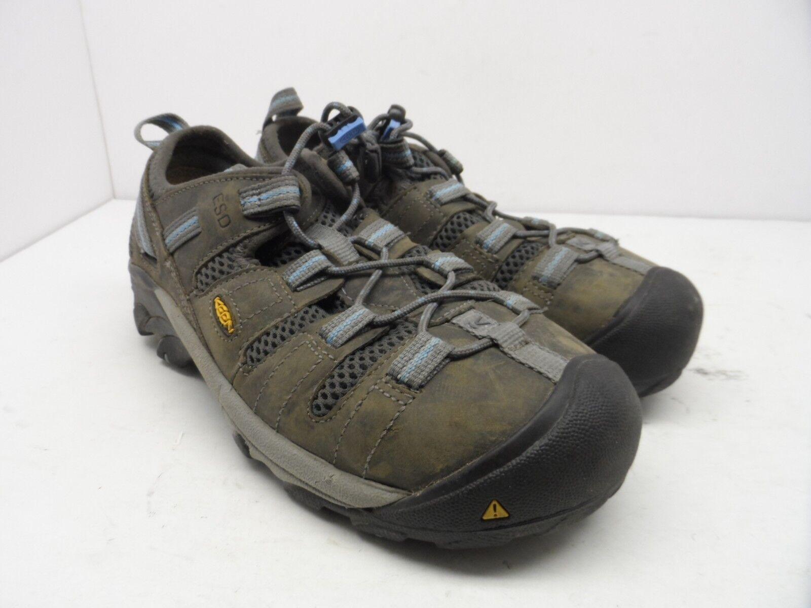 KEEN Utility Women's Atlanta Cool ESD Steel Toe Work shoes Gargoyle Size 7.5W