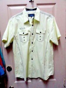 Men-039-s-Roar-Signature-Short-Sleeve-Button-Up-Shirt-Size-Large