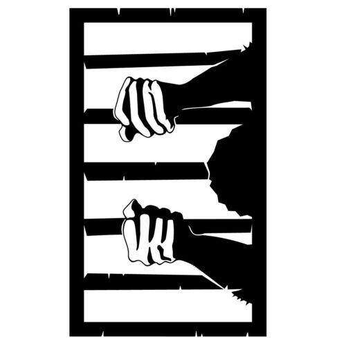 Prison Bar Wall Sticker Funny Wall Sticker Decal Transfer Door Matt Vinyl UK
