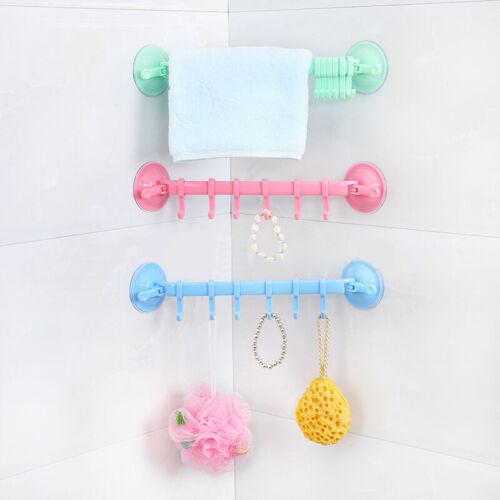 2020 réglable crochet support Double ventouse porte-serviettes suspendus
