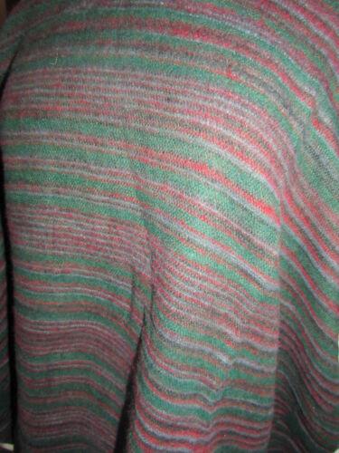 Acrylic Wool Poncho Hood Hooded Tassels Warm Hill Queen Indian Striped Cashmelon