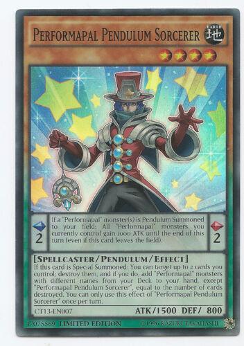 Performapal Pendulum Sorcerer CT13-EN007 Super Rare Yu-Gi-Oh Card Limited Edit