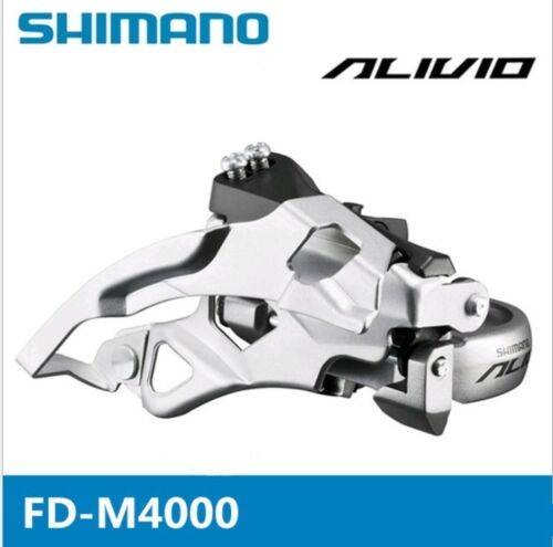 SHIMANO Alivio Front Derailleur FD-M4000 9S 31.8//34.9mm Top Swing Bicycle MTB