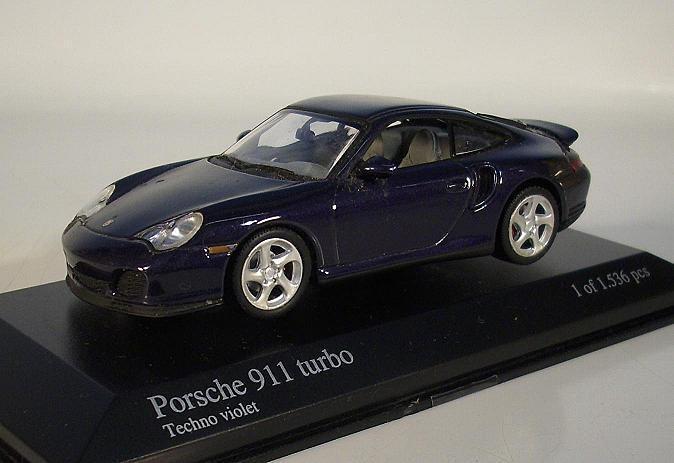 Minichamps 1 43 Porsche 911 turbo techno púrpura en láminas-box