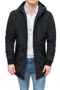 Caricamento dell immagine in corso Trench-giaccone-uomo-nero -impermeabile-casual-invernale-con- 4a7cf1ed89e