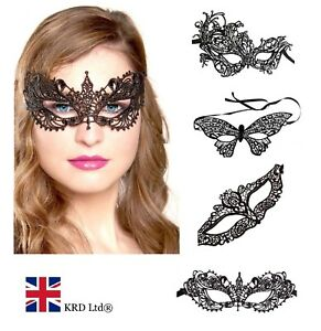 ceceac0ec859 Image is loading Ladies-LACE-MASK-Halloween-Masquerade-Ball-Venetian-Sexy-