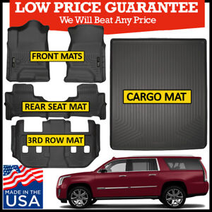 Details About Husky Liners 2015 2020 Cadillac Escalade Esv Floor Mats Complete Set Black