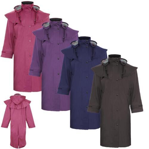 Ladies Salsbury Waterproof Cape Long Full Length Riding Coat Jacket