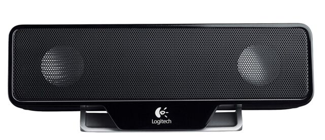 Logitech Z205 Portable Computer Laptop Speaker Black
