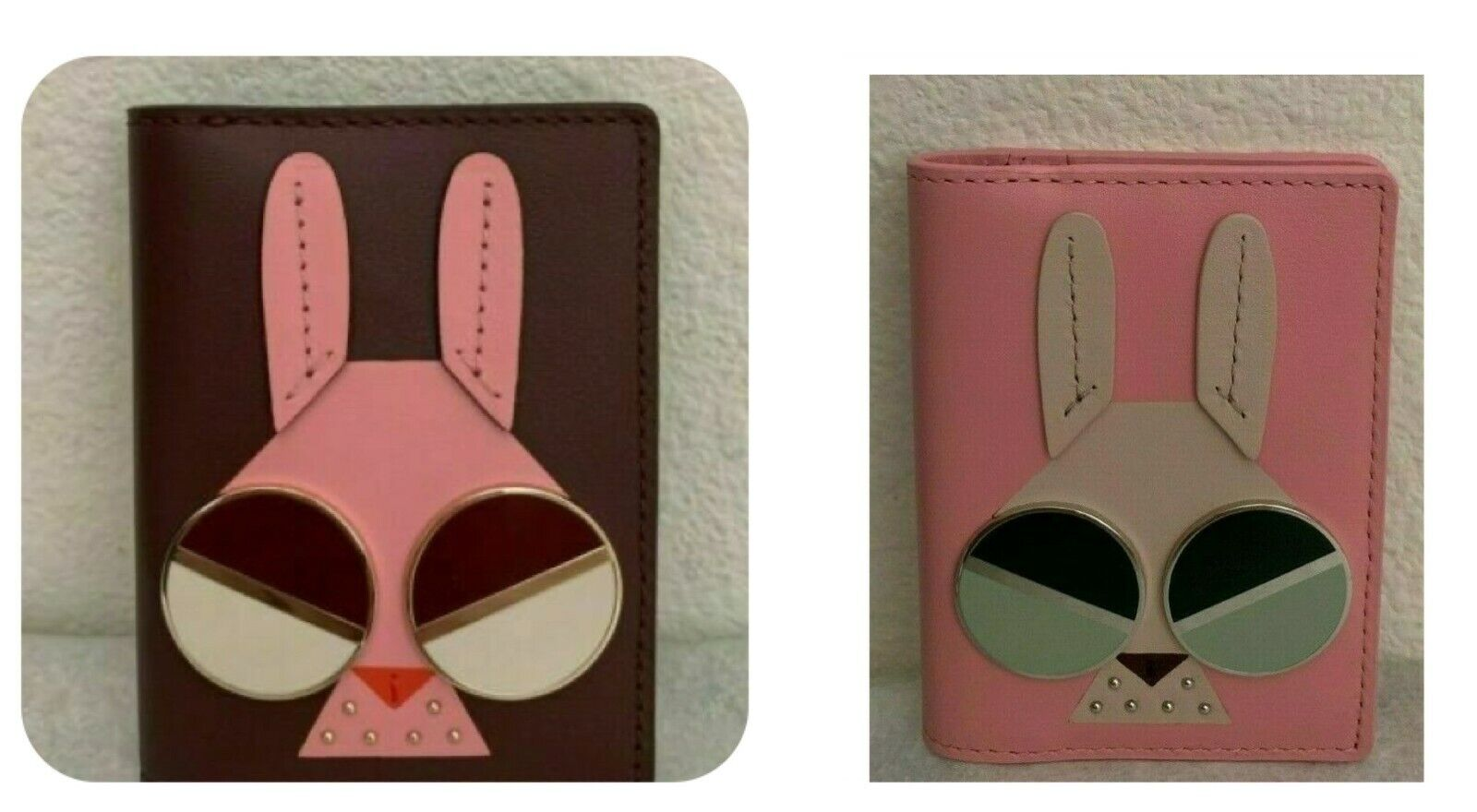 NWT Kate Spade Spademals Money Bunny Bifold Card Case PWRU7521