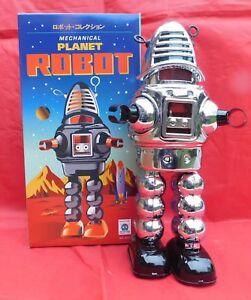 Robot-mecanique-en-tole-PLANET-ROBOT-modele-argente-ROBBY-de-Planete-interdite