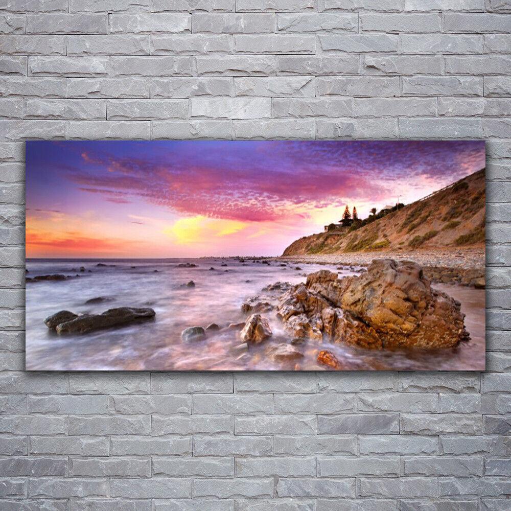 Wandbilder Glasbilder Druck auf Glas 120x60 Meer Steine Landschaft