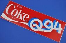 Grande COCA COLA COKE ADESIVO USA 1980 sticker decal US radio q94 FM