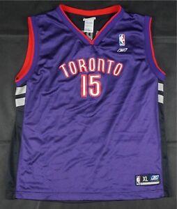 Rare-Vintage-REEBOK-Vince-Carter-Toronto-Raptors-NBA-Jersey-90s-Black-Kids-SZ-XL