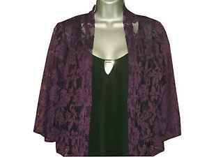 Plus-size-long-sleeved-lace-open-bolero