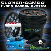 Cloning Bucket 21 Site Cloner + 4 Site Aeroponic Garden By Powergrow Systems