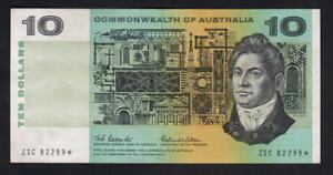 Australia-R-301S-1966-Coombs-Wilson-10-Dollar-STAR-Note-Prefix-ZSC-aUNC