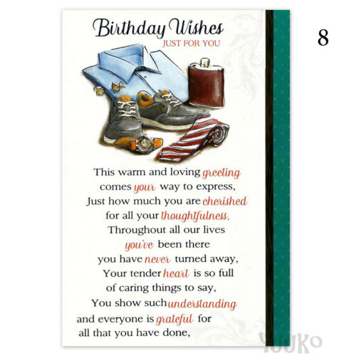 Male Birthday Card ~ Traditional Open Birthday Card for Men