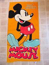 MICKEY MOUSE Standing Bath/Beach TOWEL Orange Classic Pose Walt Disney's
