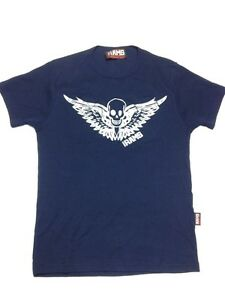 bozart rams wings skull t shirt small ebay ebay