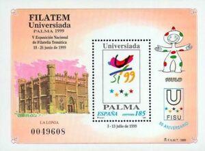 EF0109-Espana-1999-HB-FILATEM-Universiada-MNH