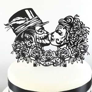 Gothic Rock Day Of The Dead Rose Wedding Cake Topper | eBay