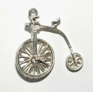 Penny Farthing Charm Sterling Silver Charms Bicycle