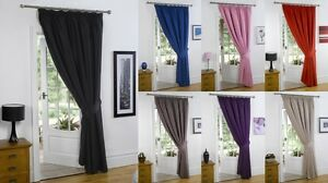 Thermal Blackout Curtains Pencil Pleat Tape Top Door