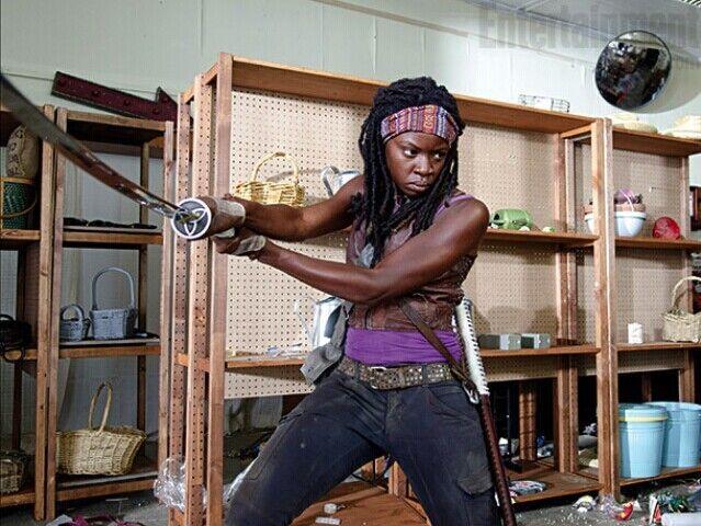 Walking Dead Sword-Michonne's katana 9260 spring steel blade battle ready sword