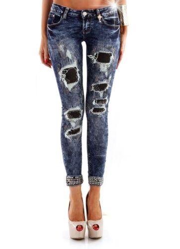 L #116 Damenjeans Jeans Hose Damenhose Röhrenjeans Hüftjeans Röhrenhose XS