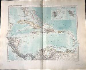 """""""antilles """" Atlas Universel1888 Apparence éLéGante"""