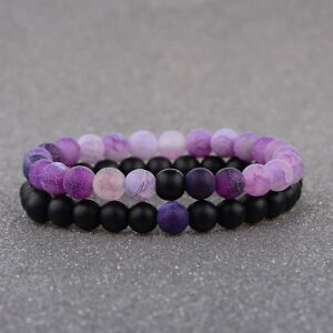 2x-Distance-Bracelets-For-Lovers-Friends-2-Pcs-Gift-Black-Pink-8mm-Beads-Couples