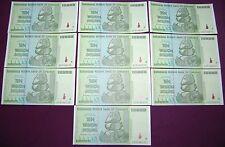 ZIMBABWE 100 TRILLION DOLLARS (10 X 10 TRILLION) 2008 AA | OVER 50 IN STOCK!