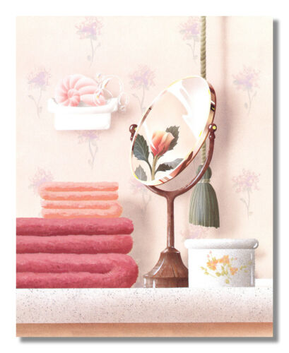 Towels Mirror and Soap Bubbles Bathroom Photo Wall Picture 8x10 Art Print