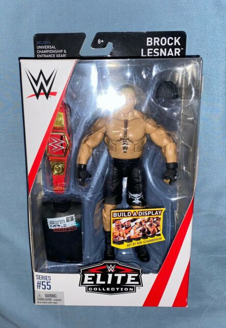 WWE Mattel Brock Lesnar Elite with universal title Series 55 Action Figure