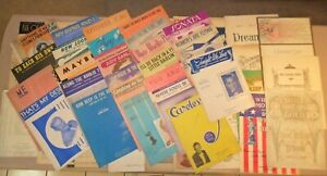 73-Pieces-of-Miscellaneous-Vintage-Sheet-Music-Movies-Musicals-Classics